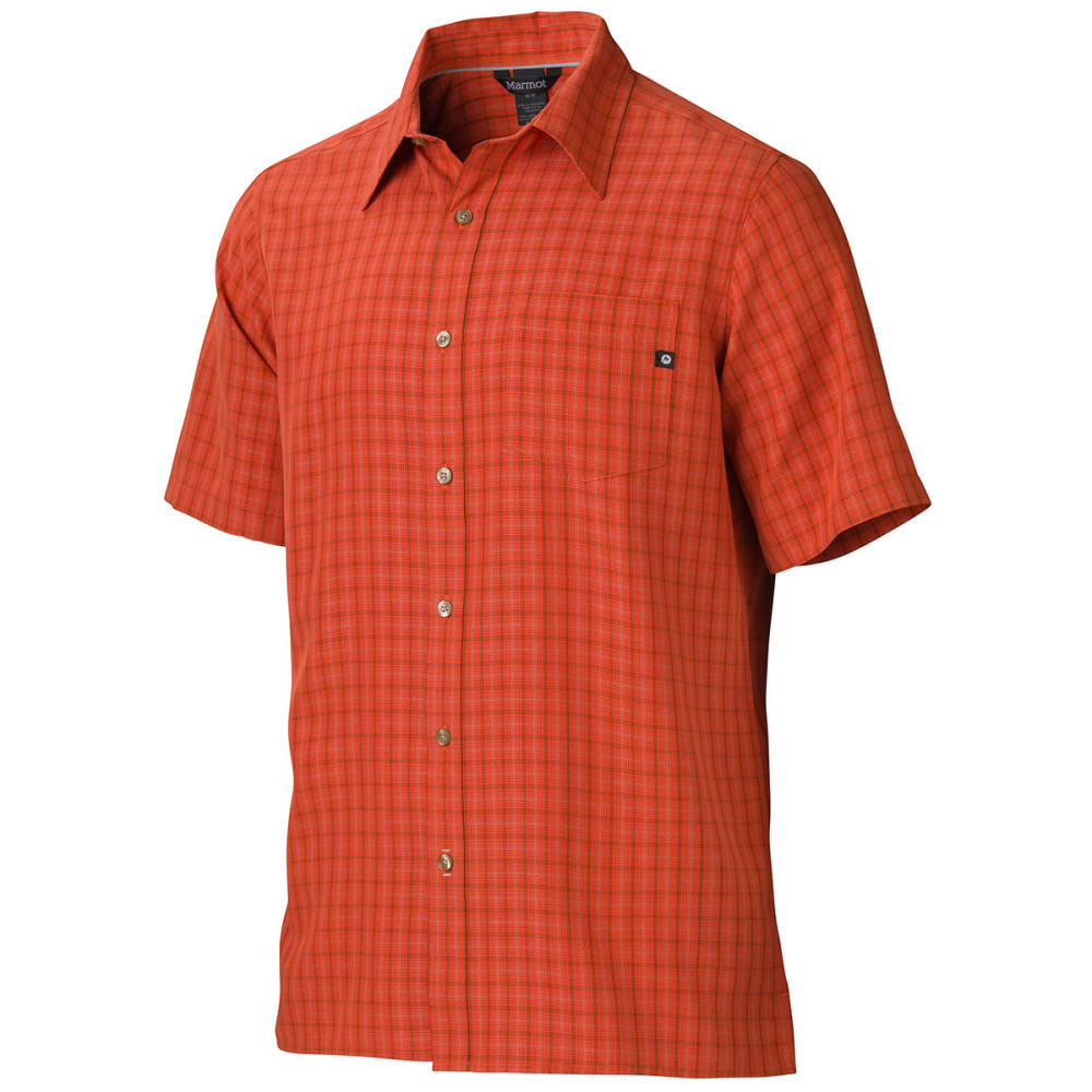 MARMOT Men's Eldridge Short-Sleeve Button Up - ORANGE HAZE