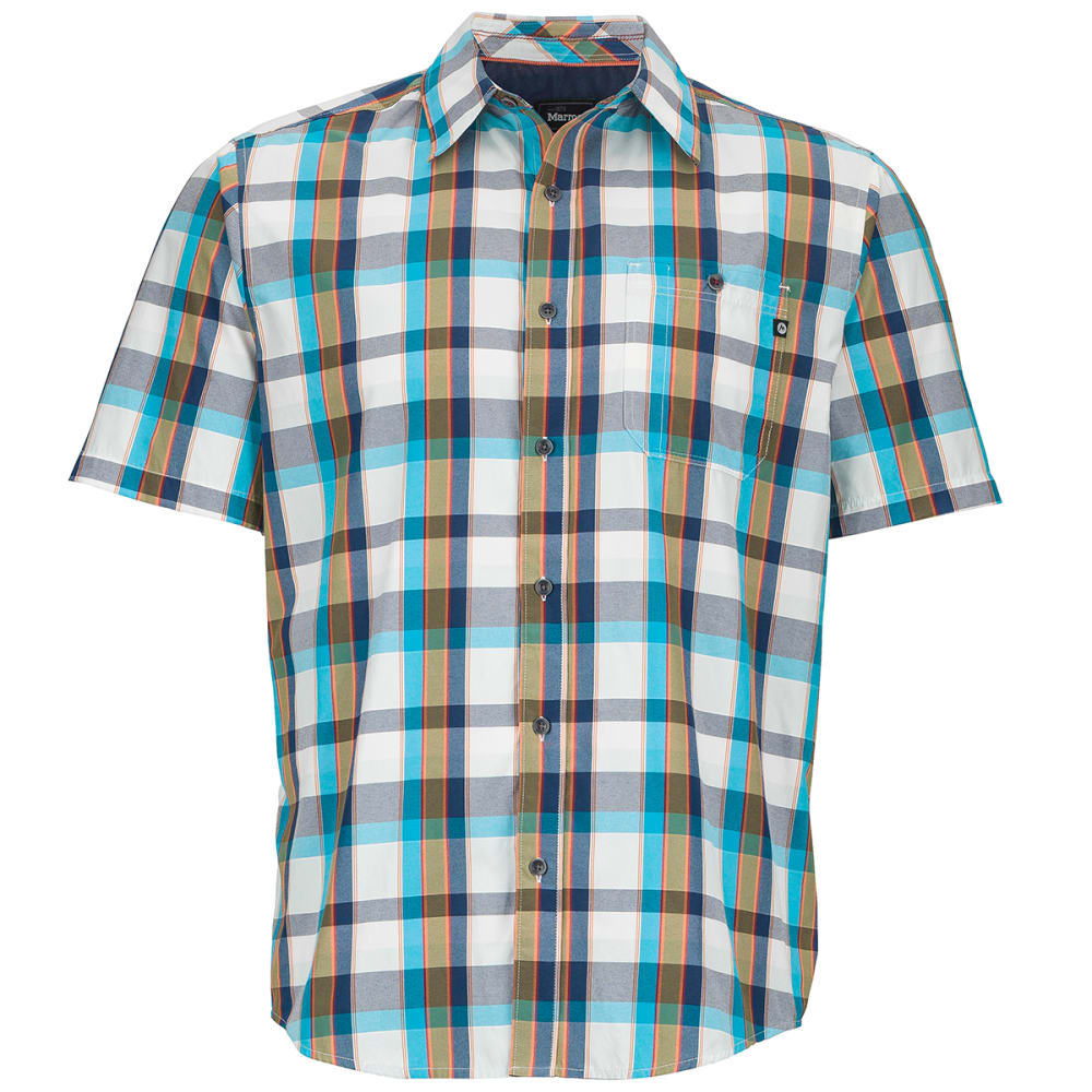 MARMOT Men's Asheboro Short-Sleeve  Shirt , STELLAR BLUE ,hi-res