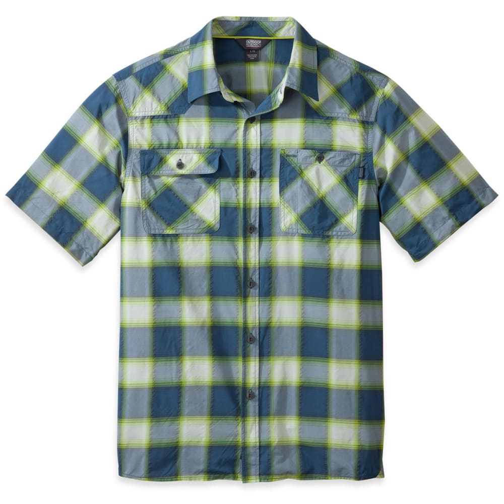 OUTDOOR RESEARCH Men's Growler Short-Sleeve Shirt - DUSK GRAY