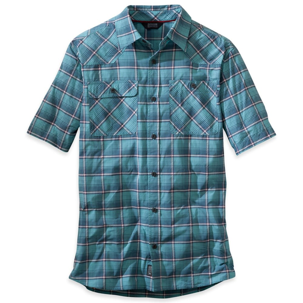OUTDOOR RESEARCH Men's Growler Short-Sleeve Shirt - ICE BLUE
