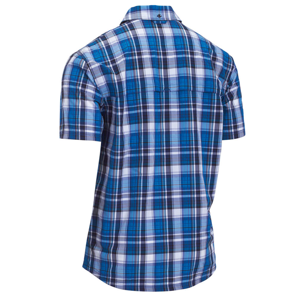 EMS® Men's Journey Plaid Short-Sleeve Shirt - BLUE