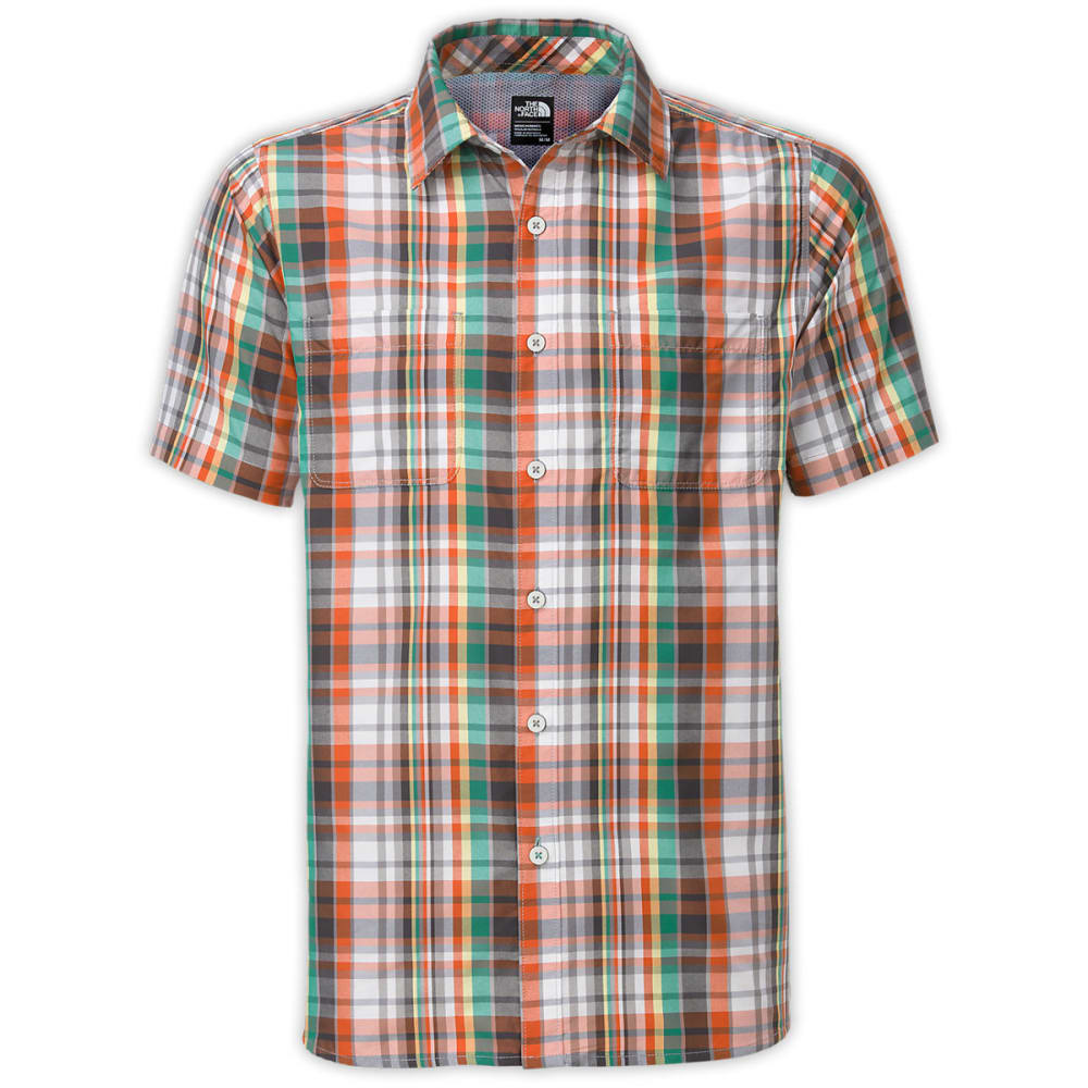 THE NORTH FACE Men's Solar Plaid Short-Sleeve Shirt - MID GREY