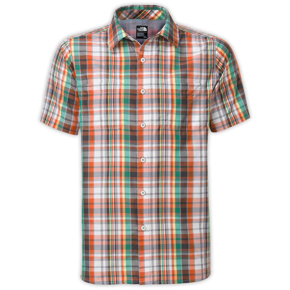 THE NORTH FACE Men's Solar Plaid Short-Sleeve Shirt - MID GREY