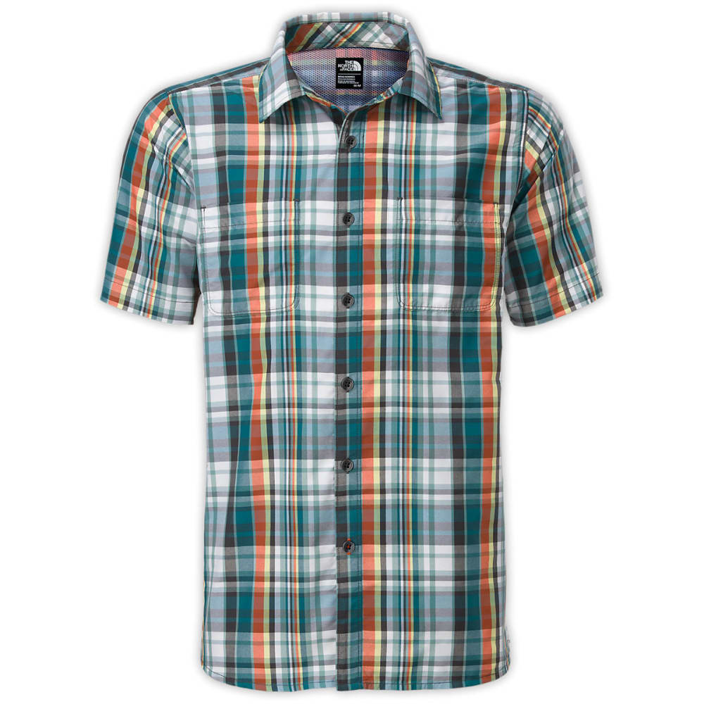 The north face men 39 s solar plaid short sleeve shirt Short sleeve plaid shirts