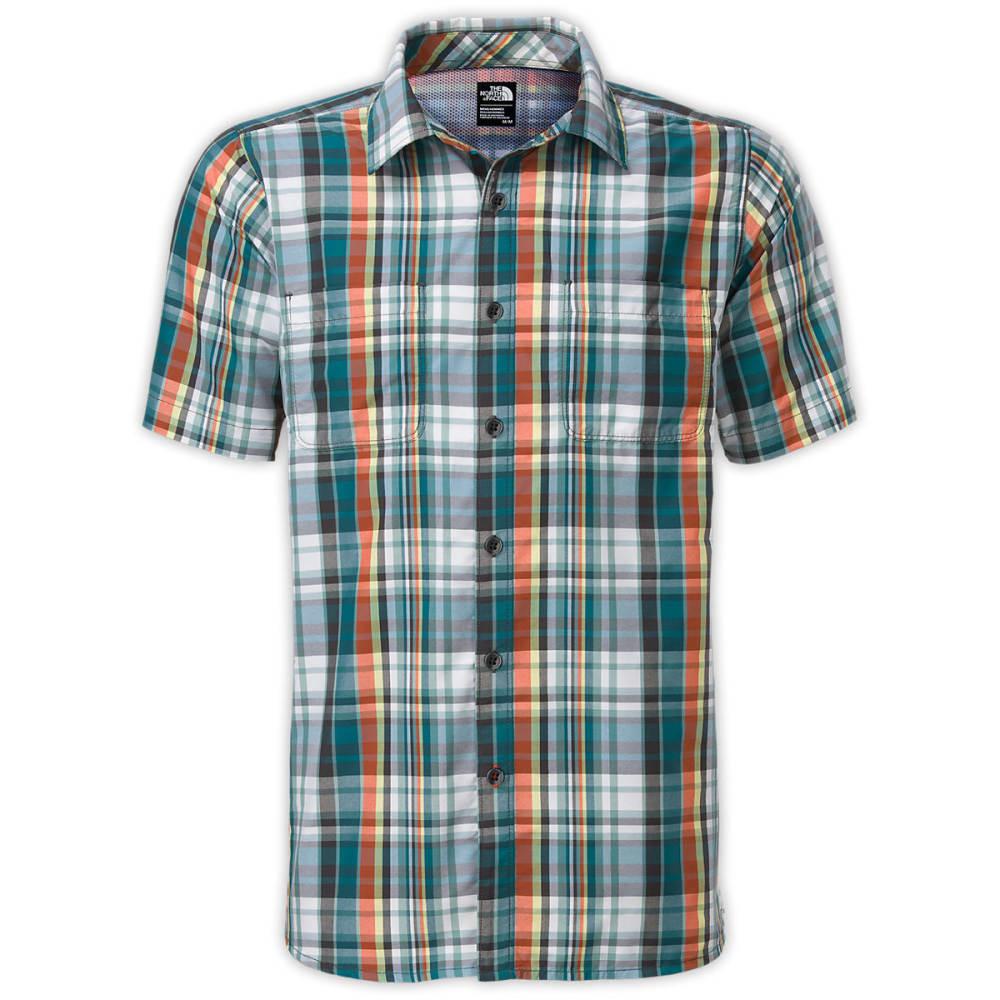 THE NORTH FACE Men's Solar Plaid Short-Sleeve Shirt - BLUE