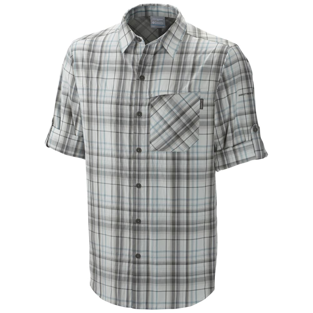 COLUMBIA Men's Insect Blocker Plaid Shirt, L/S - GRILL LARGE PLAID