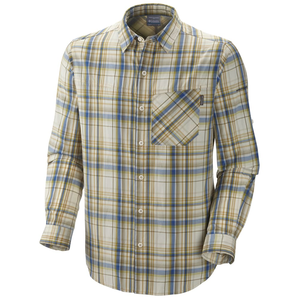 COLUMBIA Men's Insect Blocker Plaid Shirt, L/S - NATURAL LARGE PLAID
