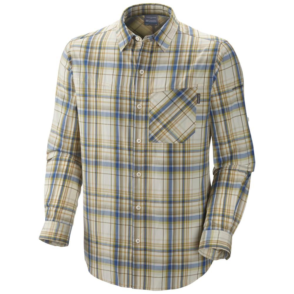 COLUMBIA Men's Insect Blocker Plaid Shirt, L/S - NATURAL LARGE PLAID