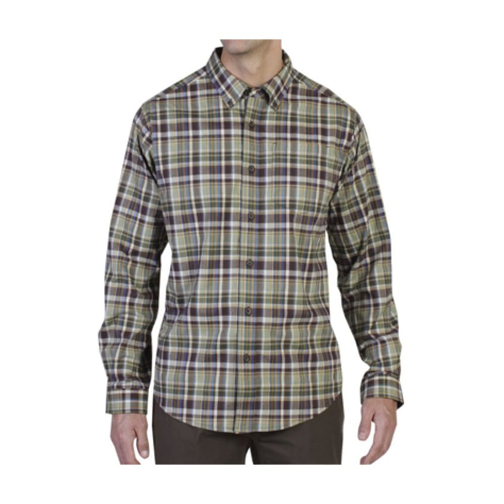 EXOFFICIO Men's Brios Plaid Shirt, L/S   - DUSTY OLIVE