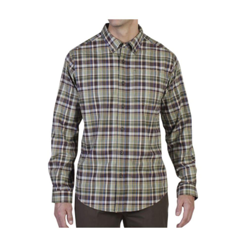EXOFFICIO Men's Brios Plaid Shirt, L/S  - DUSTY OLIVE