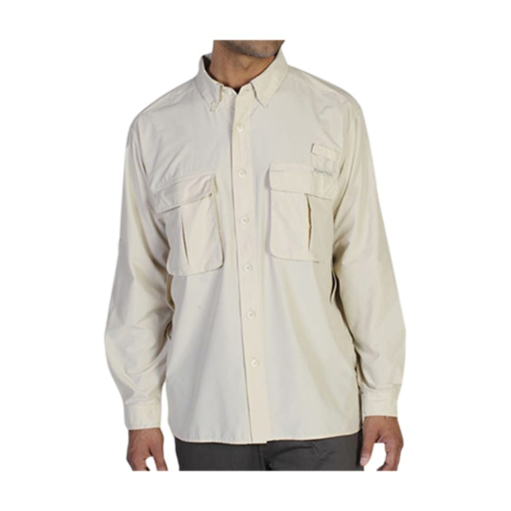 EXOFFICIO Men's Air Strip Shirt, L/S   - 8050-BONE