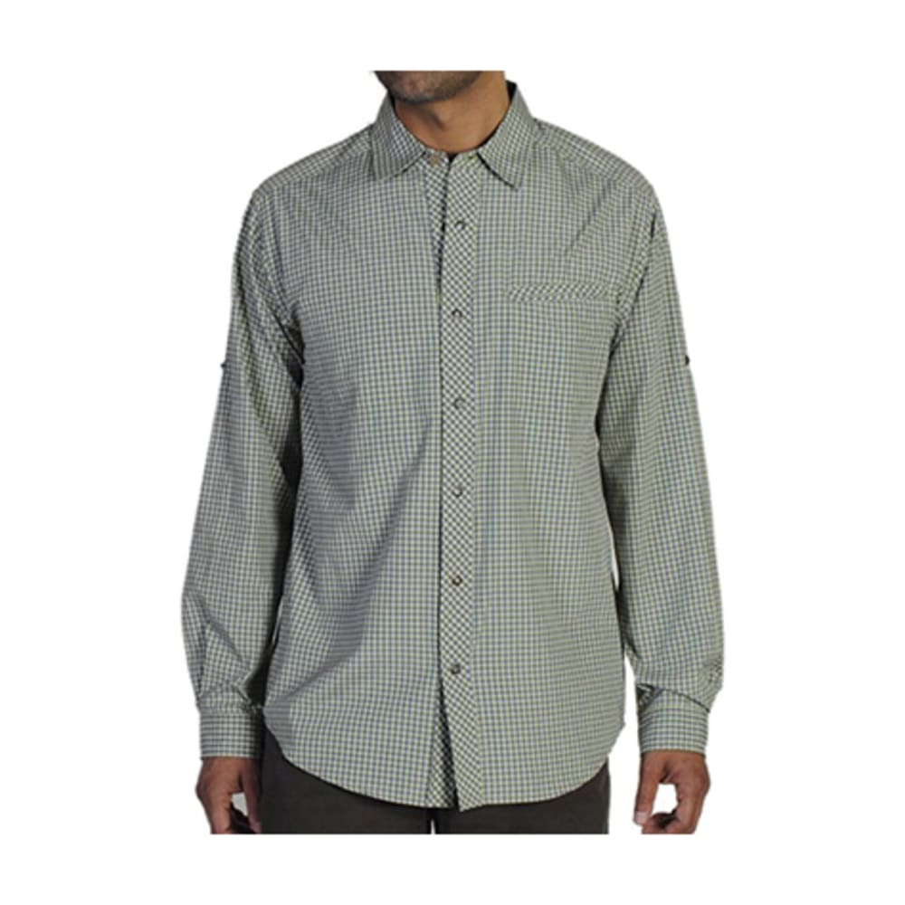 EXOFFICIO Men's Trip'r Check Shirt, L/S  - FOLIAGE