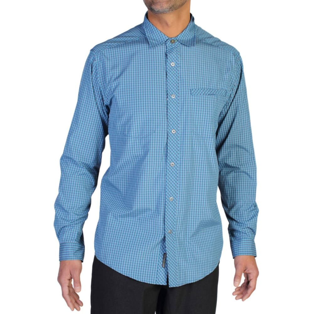 EXOFFICIO Men's Trip'r Check Shirt, L/S  - GALAXY BLUE