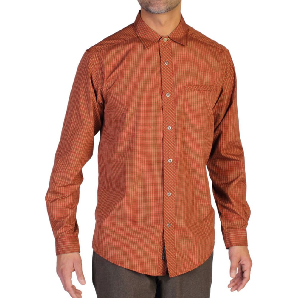 EXOFFICIO Men's Trip'r Check Shirt, L/S  - TANGO