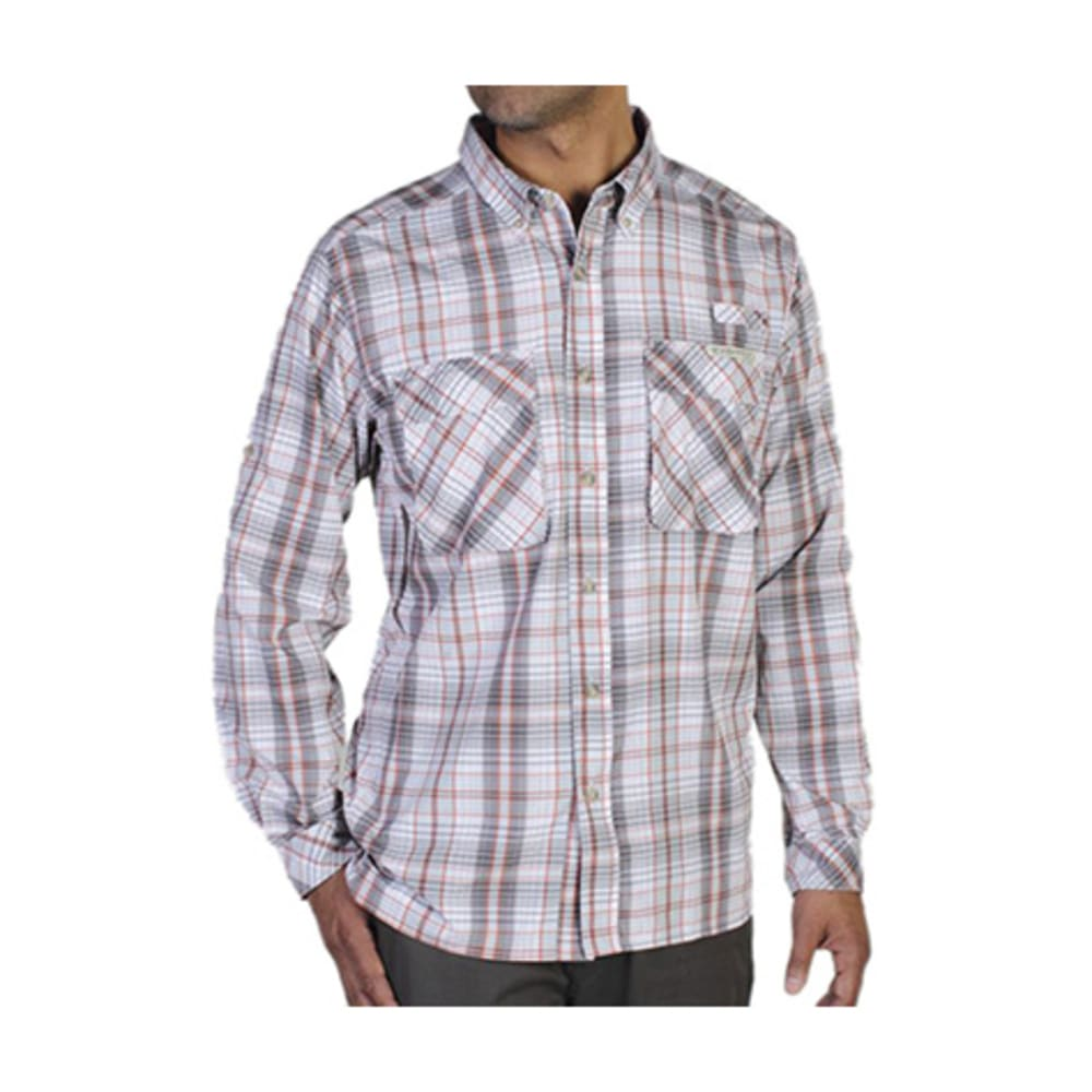 EXOFFICIO Men's Air Strip Macro Plaid Shirt, L/S   - OYSTER