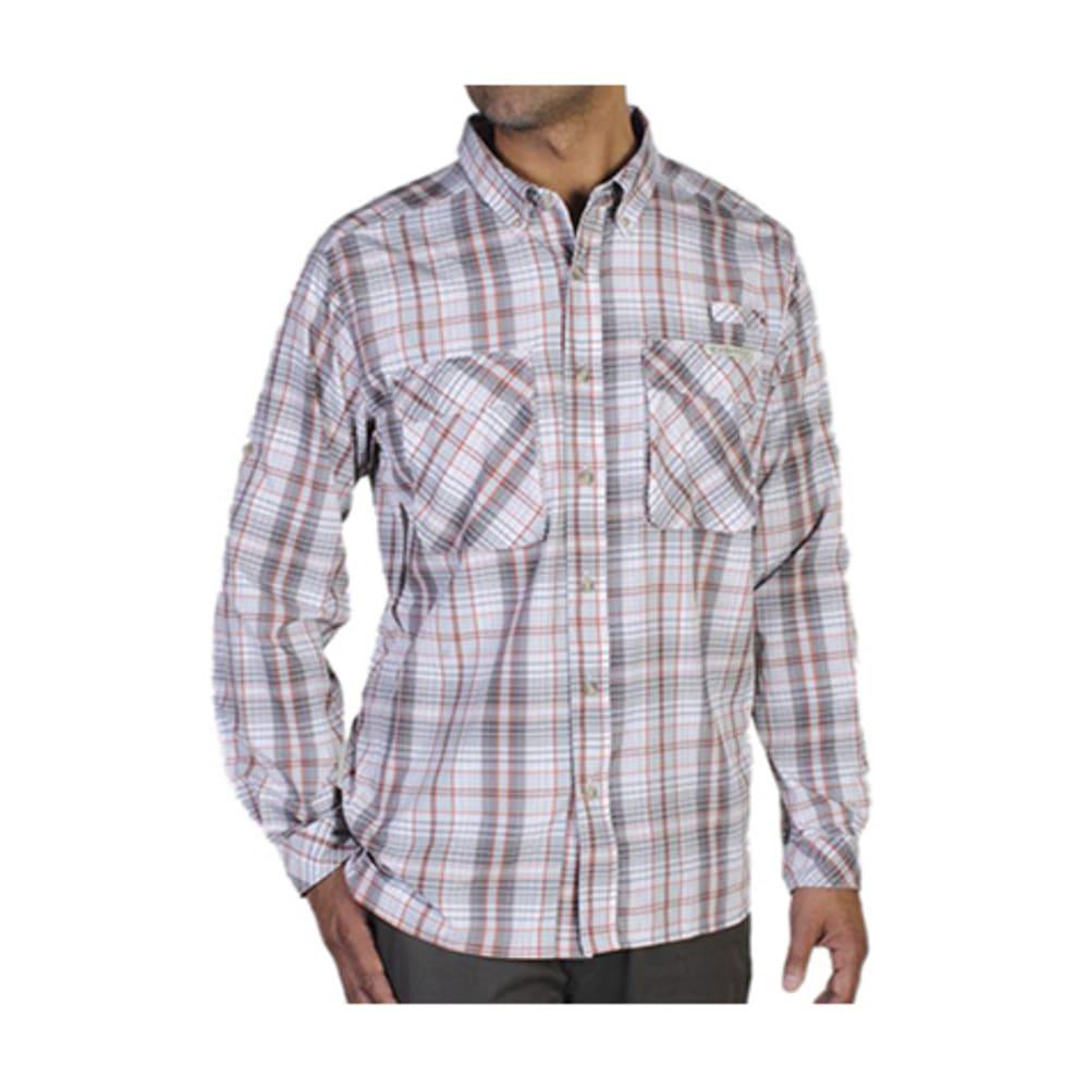 EXOFFICIO Men's Air Strip Macro Plaid Shirt, L/S  - OYSTER