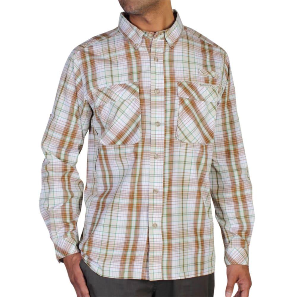 EXOFFICIO Men's Air Strip Macro Plaid Shirt, L/S  - CANYON