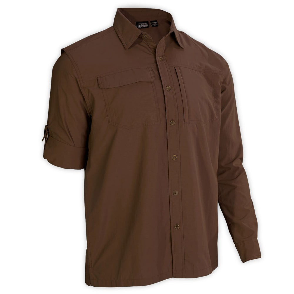 EMS® Men's Trailhead Long-Sleeve Shirt   - DARK EARTH