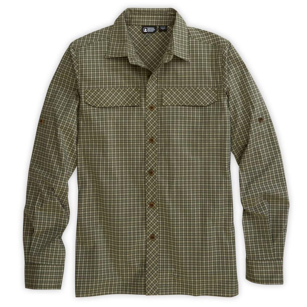 Ems men 39 s trailhead long sleeve plaid shirt capulet green for Mens plaid shirts long sleeve