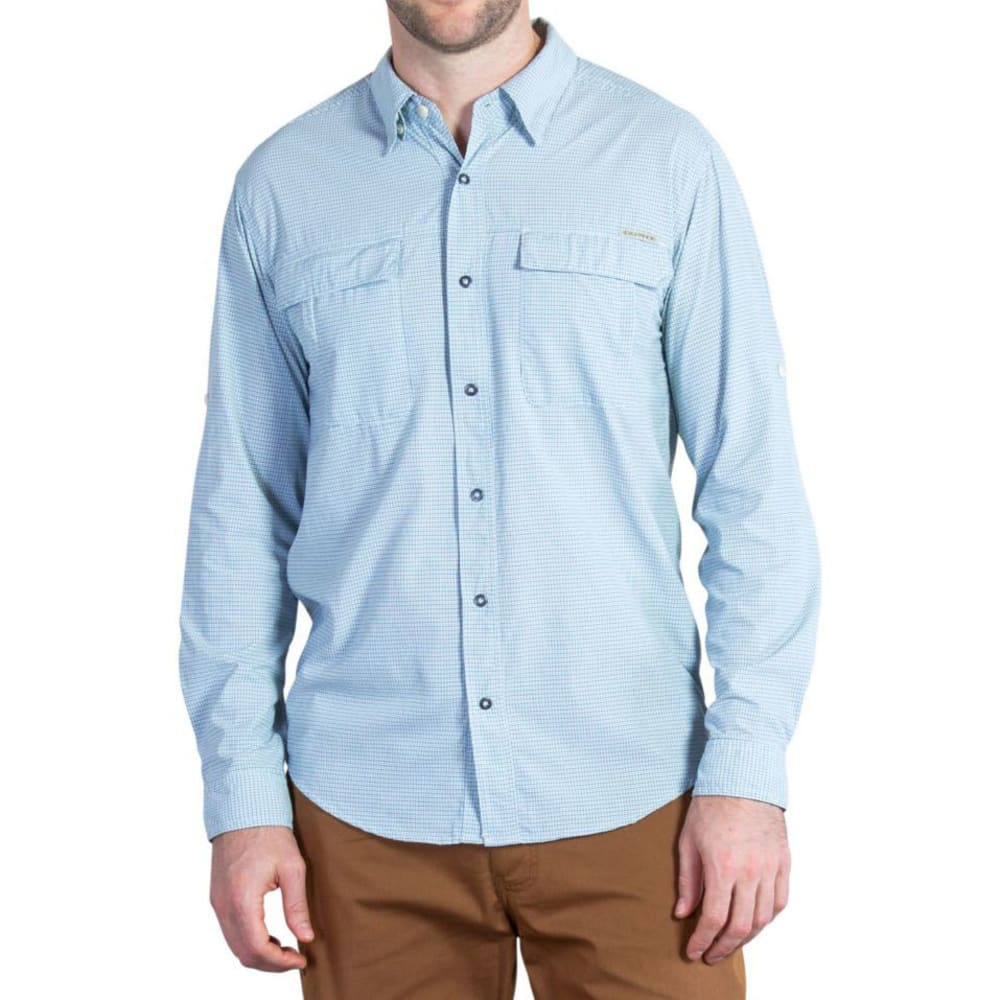 EXOFFICIO Men's BugsAway® Halo Check Shirt, L/S   - DEEP SEA