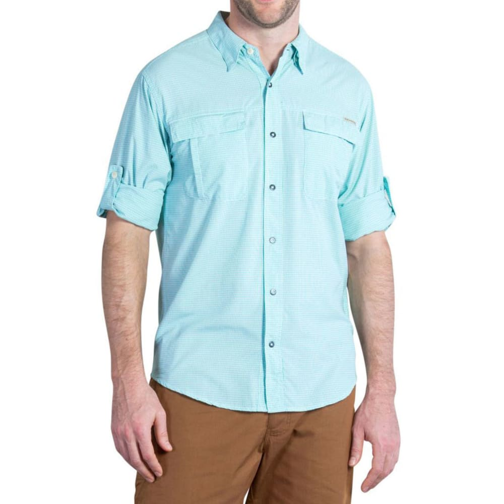 EXOFFICIO Men's BugsAway® Halo Check Shirt, L/S     - BEACH GLASS