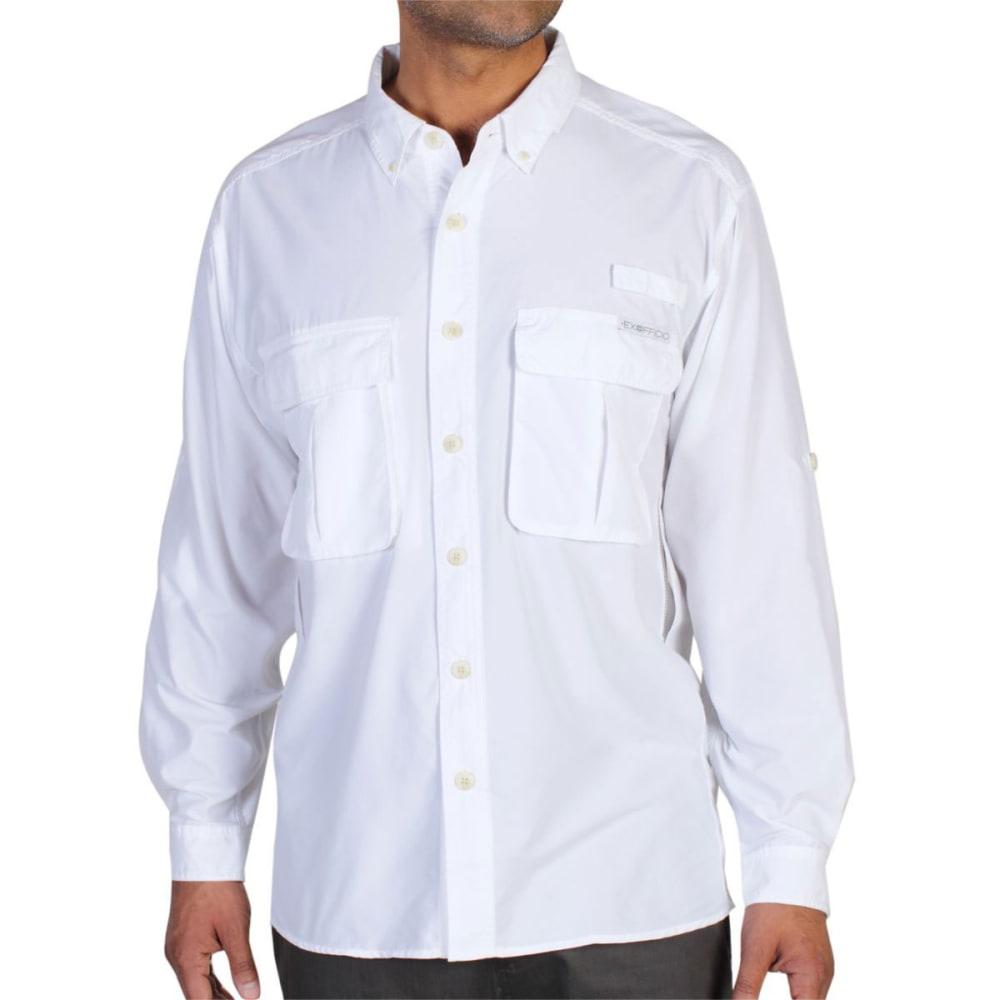 EXOFFICIO Men's Air Strip Shirt, L/S  - WHITE