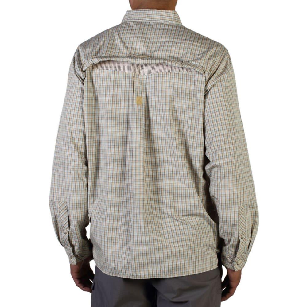 EXOFFICIO Men's Air Strip Micro Plaid Shirt, L/S - WALNUT