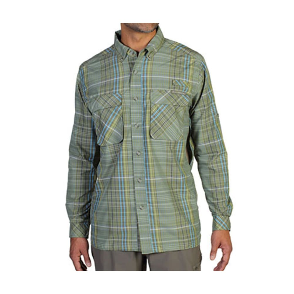 EXOFFICIO Men's Air Strip Macro Plaid Shirt, L/S   - LT LAPIS