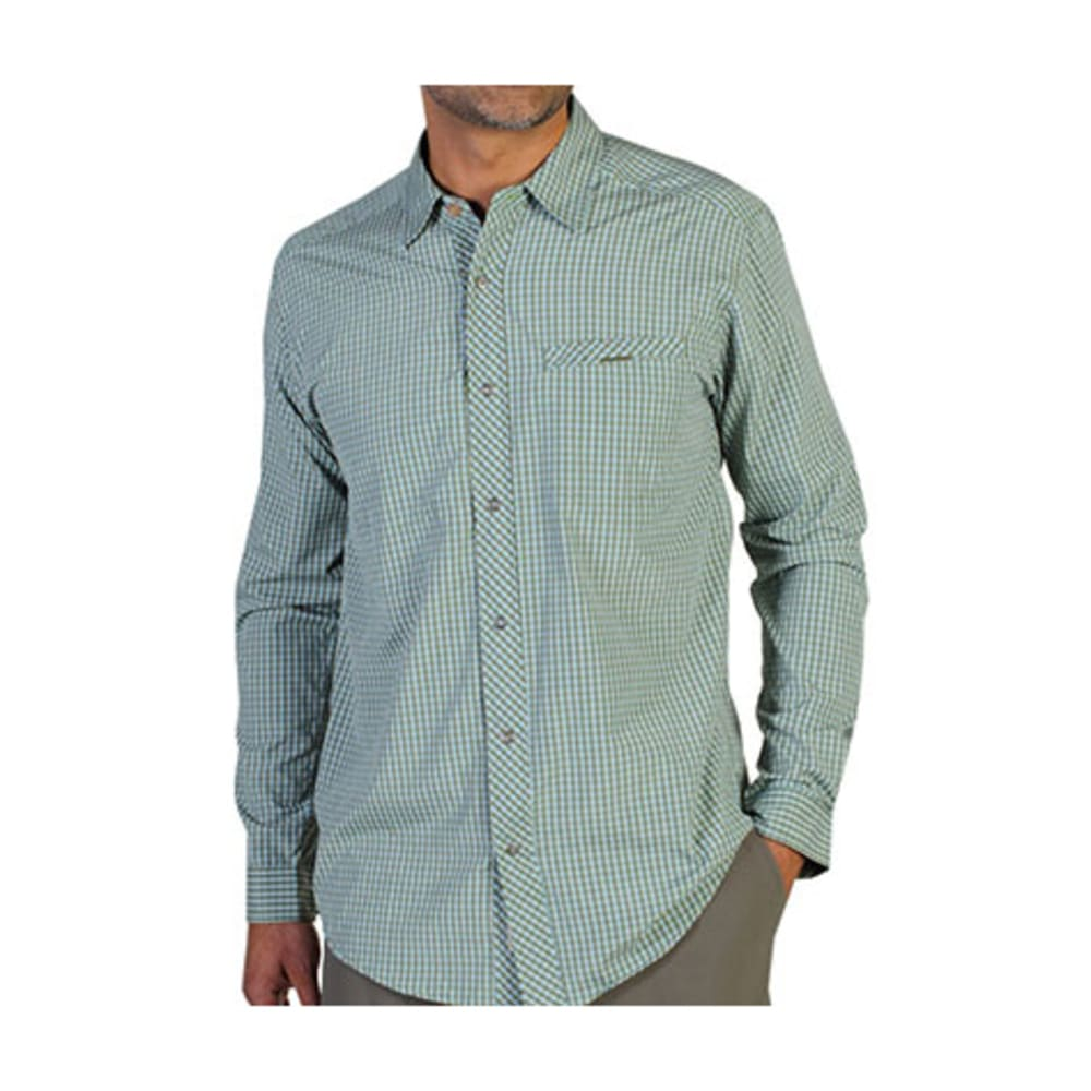 EXOFFICIO Men's Trip'r Check Shirt, L/S  - OLIVE