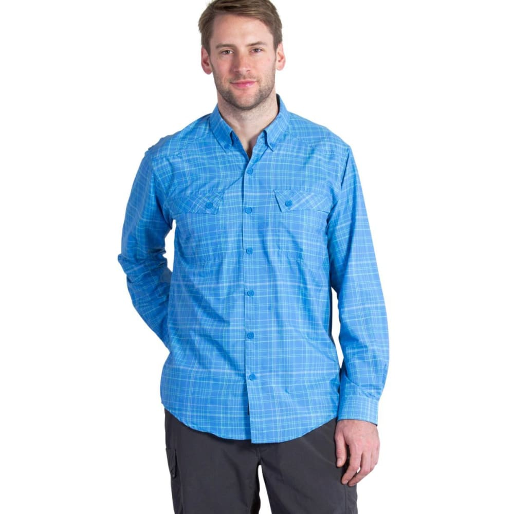 EXOFFICIO Men's Minimo Plaid Shirt, L/S  - RIVIERA 1001-2603