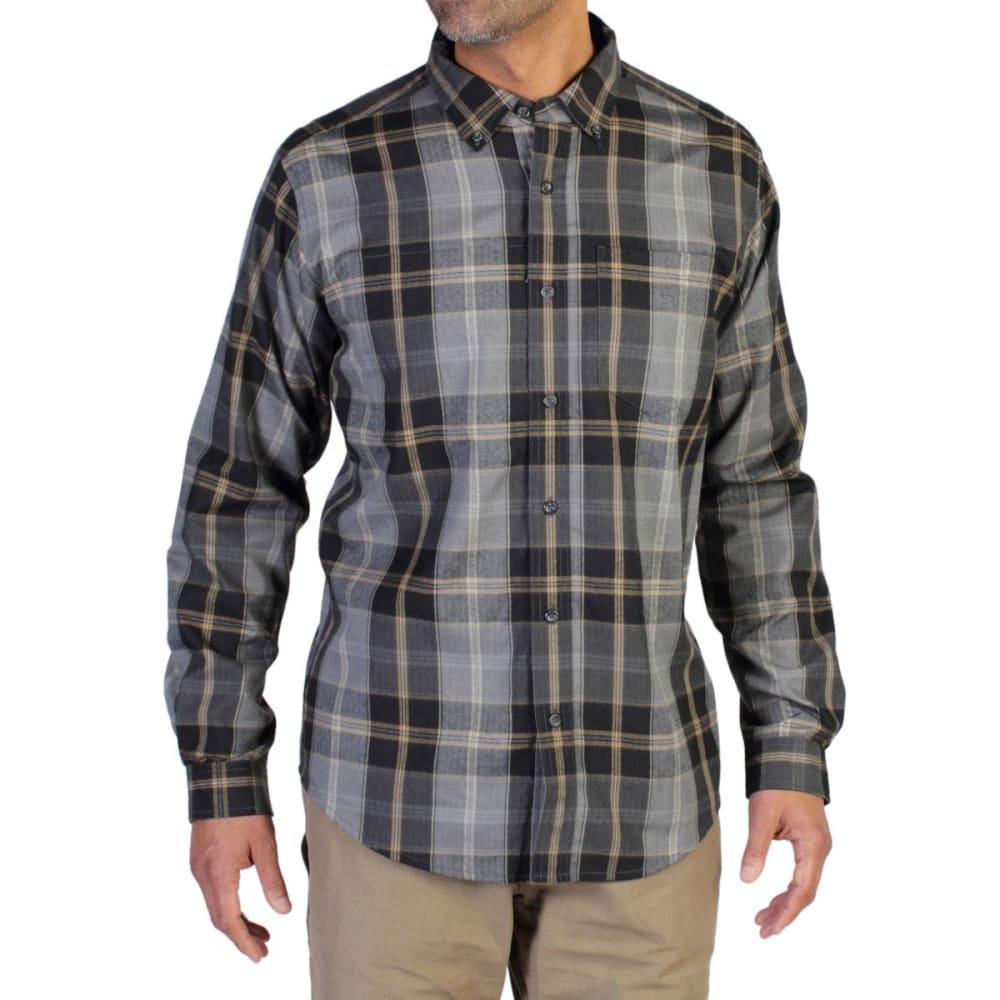 EXOFFICIO Men's Kegon   Plaid Flannel Shirt  - BLACK
