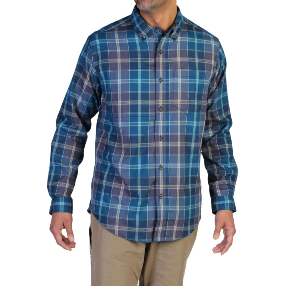EXOFFICIO Men's Kegon   Plaid Flannel Shirt  - GALAXY BLUE
