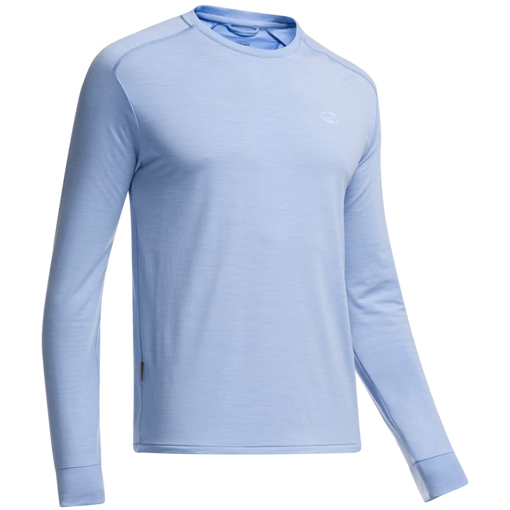 ICEBREAKER Men's Cool-Lite Sphere Long-Sleeve Crew - BROOK HEATHER