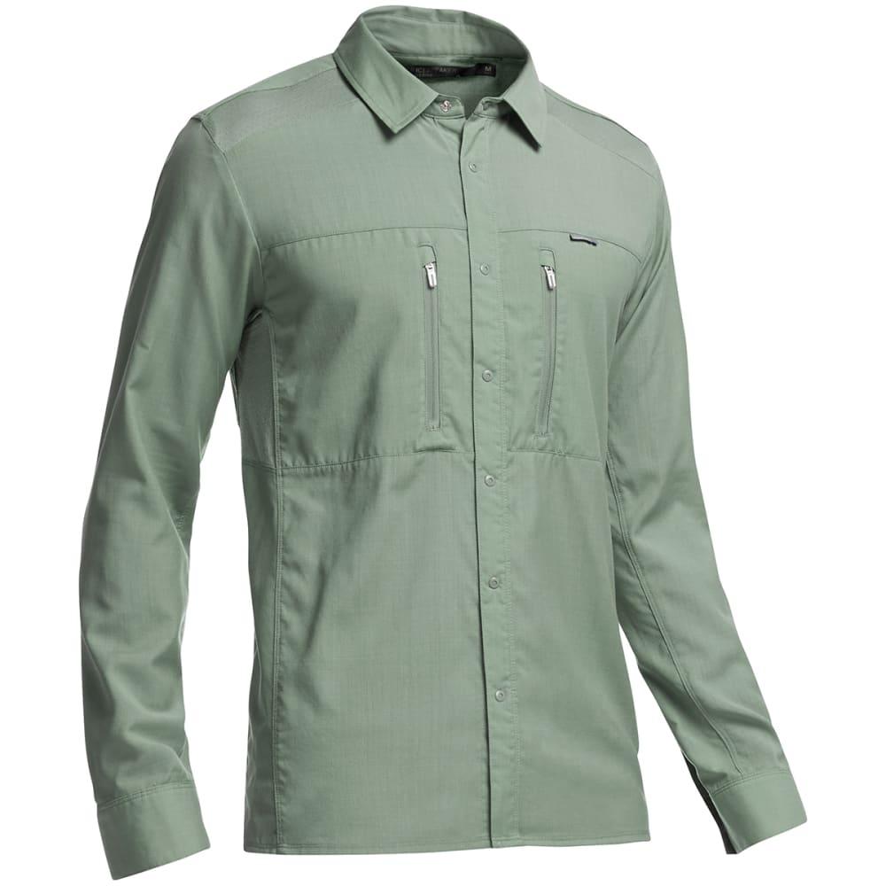 ICEBREAKER Men's Oreti Long-Sleeve Shirt - SHALE