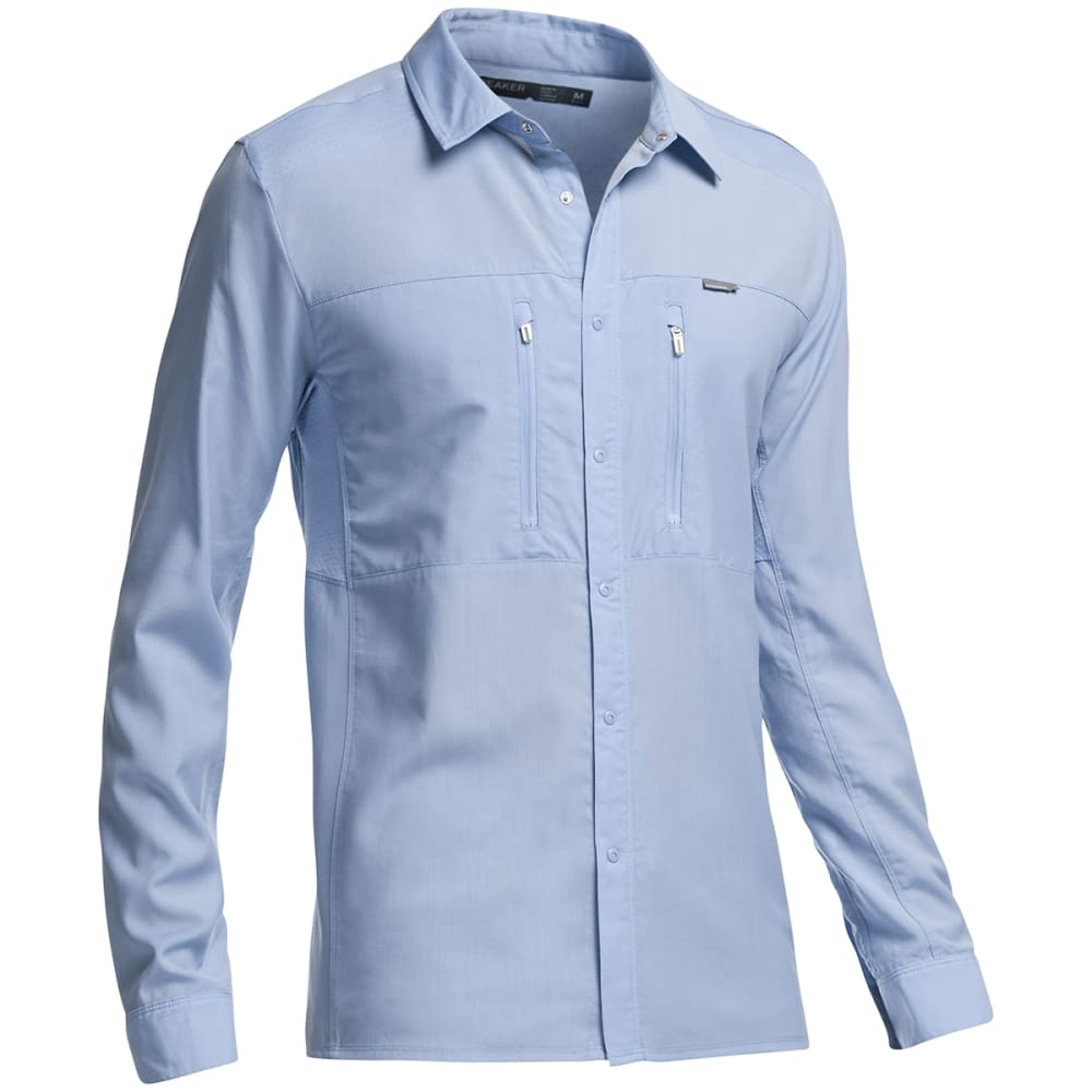 ICEBREAKER Men's Oreti Long-Sleeve Shirt - BROOK