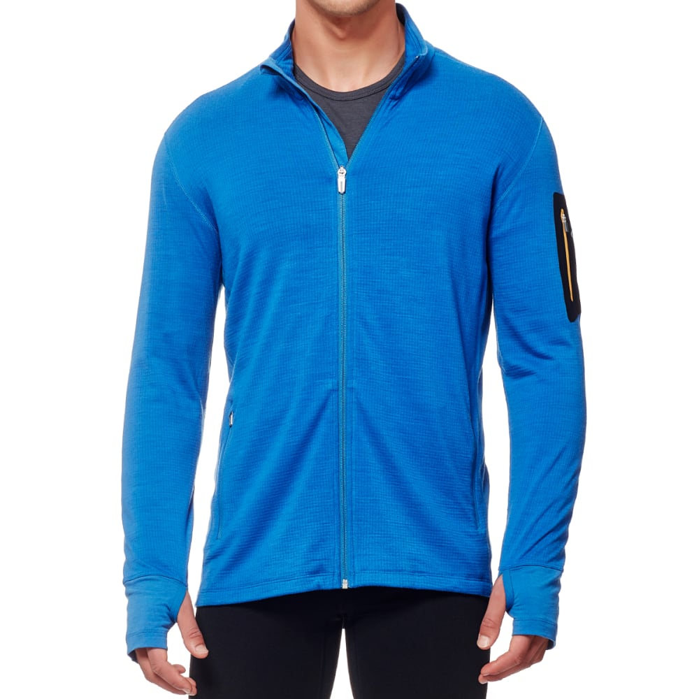 ICEBREAKER Men's Compass Long-Sleeve Zip - PELOURUS/ADMIRAL/BLT
