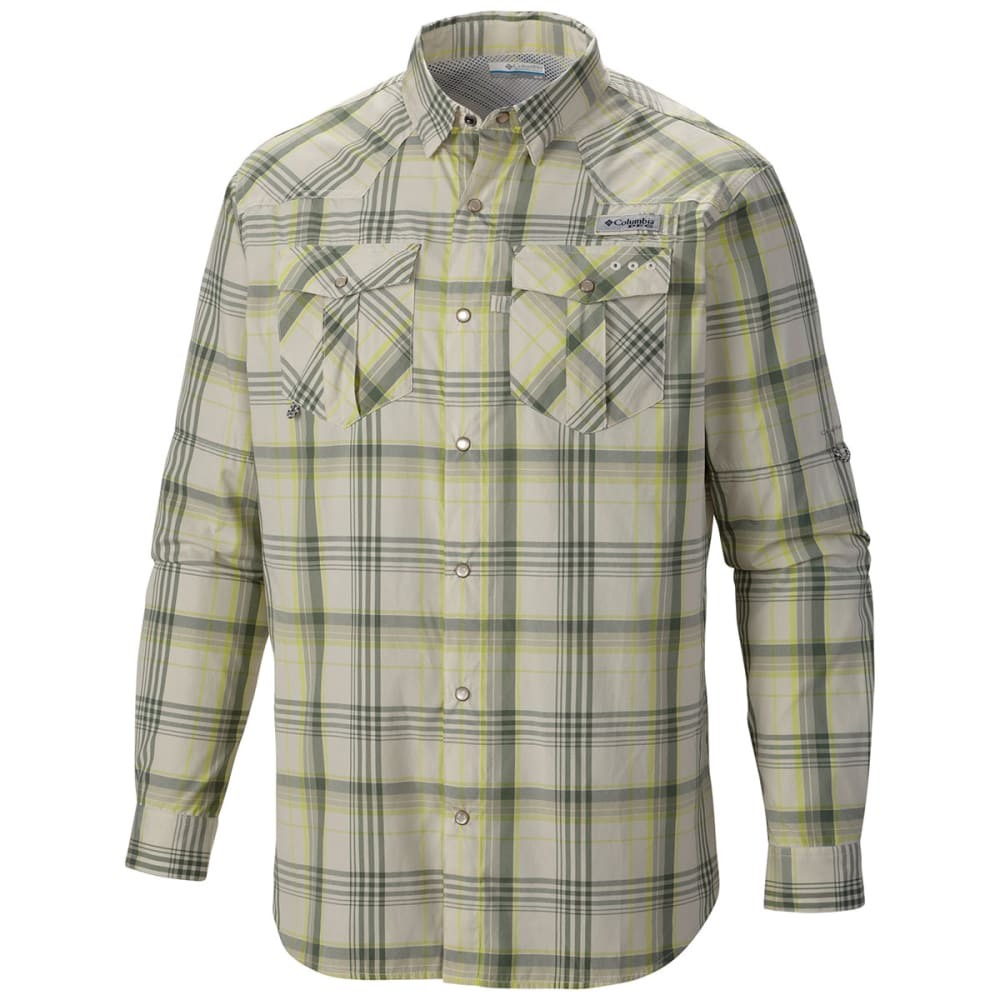 COLUMBIA Men's PFG Beadhead   Long-Sleeve Shirt - STONE