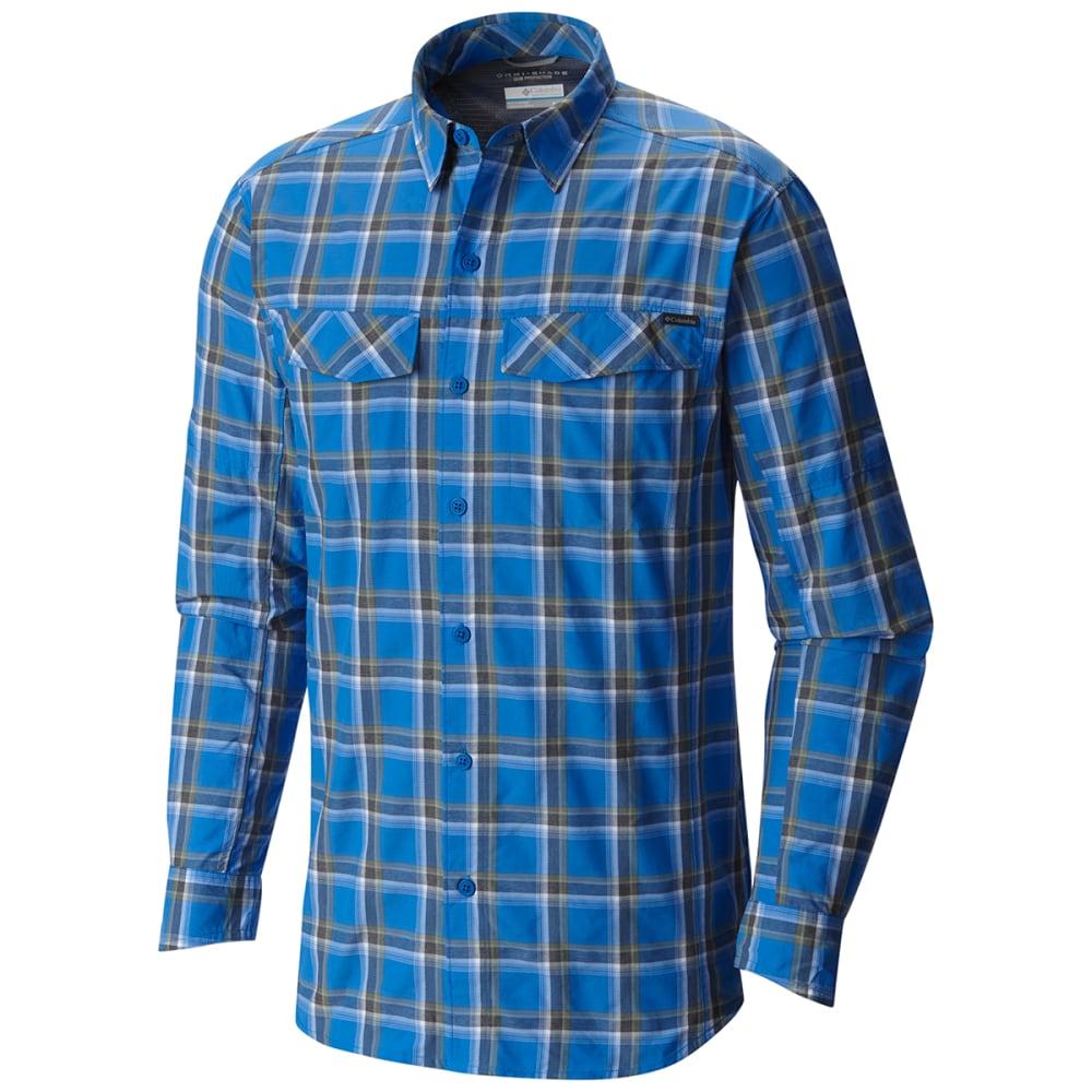 Columbia men 39 s silver ridge plaid long sleeve shirt for Mens plaid shirts long sleeve