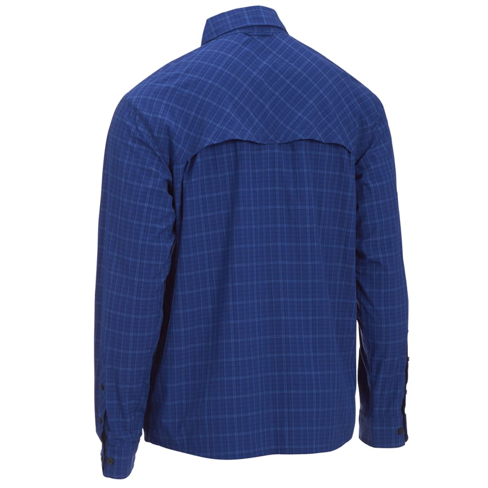 EMS® Men's Journey Long-Sleeve Plaid Shirt - COOL BLUE