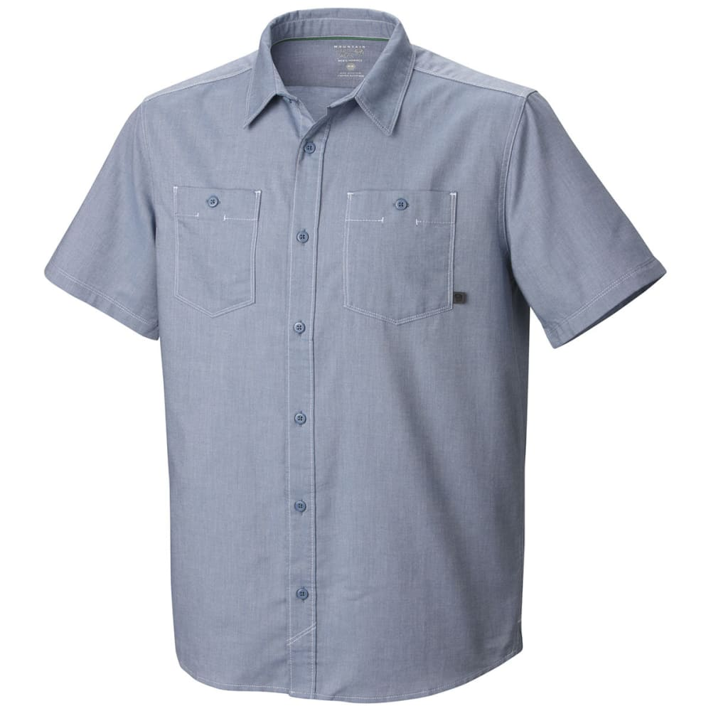 MOUNTAIN HARDWEAR Men's Huxley Shirt, S/S - STEEL
