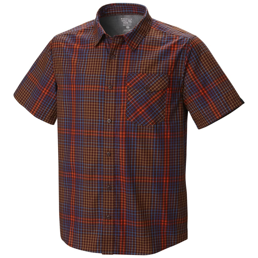 MOUNTAIN HARDWEAR Men's Drummond Shirt, S/S - REDWOOD