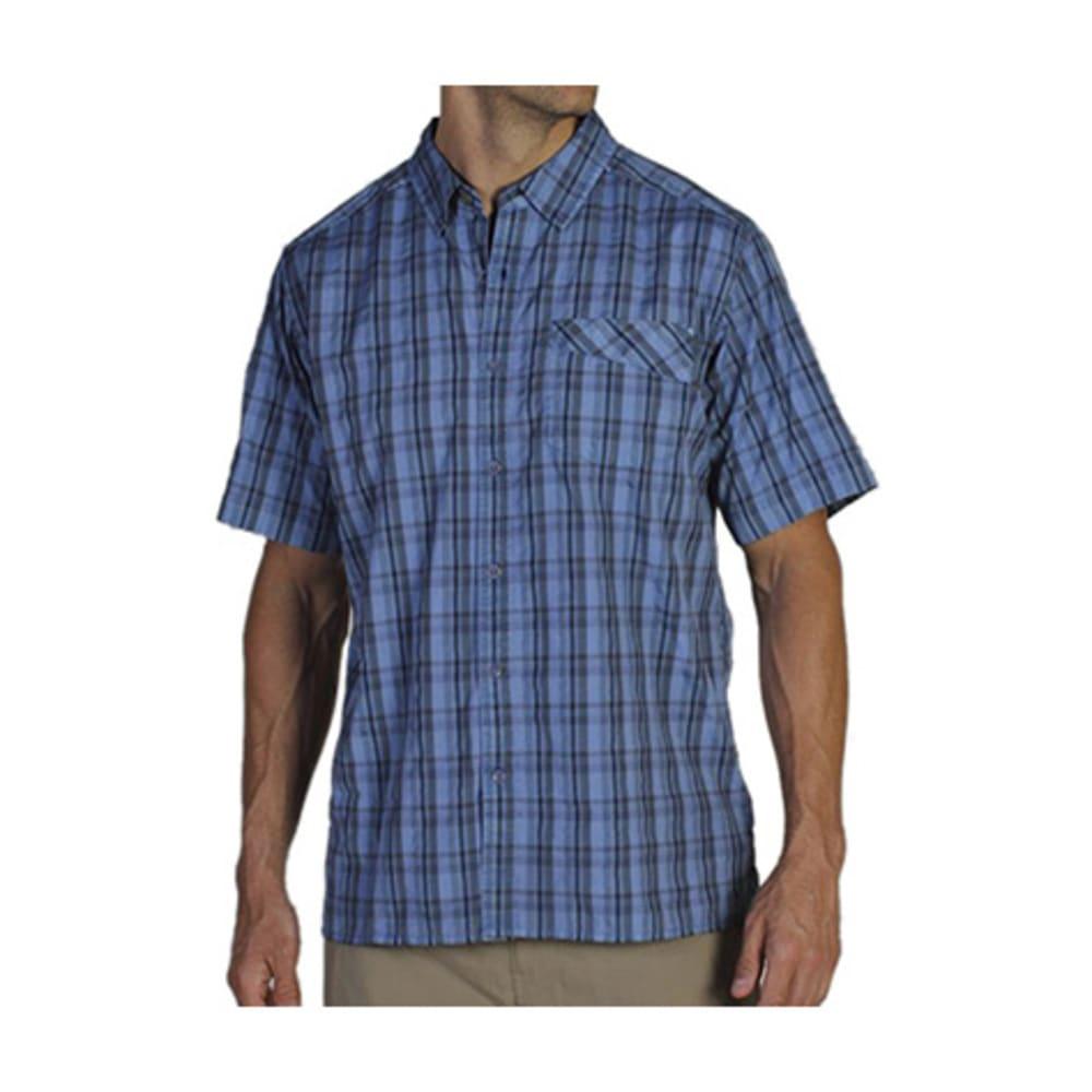 EXOFFICIO Men's Tenby Shirt, S/S  - CAYMAN BLUE