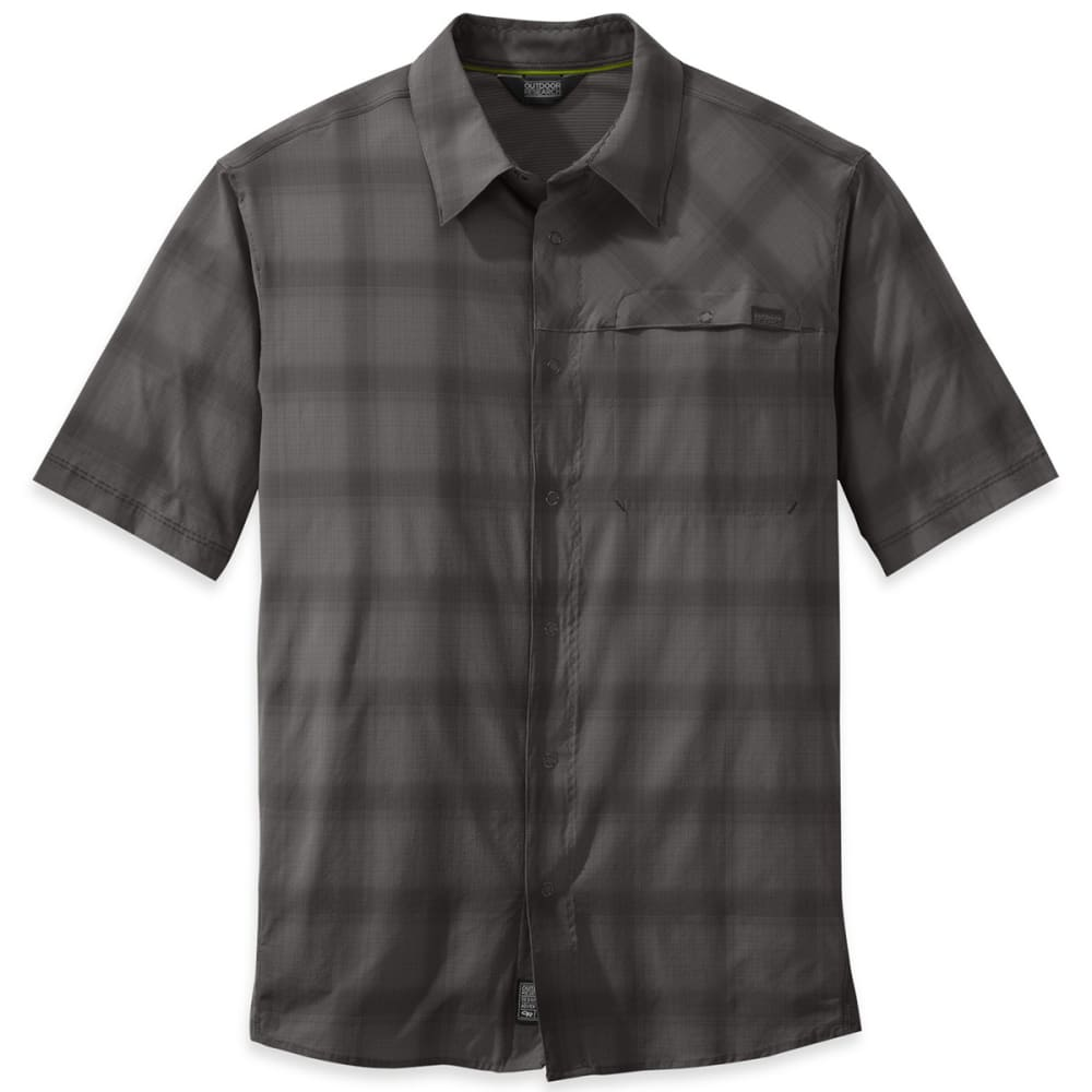 OUTDOOR RESEARCH Men's Astroman Short-Sleeve Shirt - 0045-PEWTER/CHARCOAL