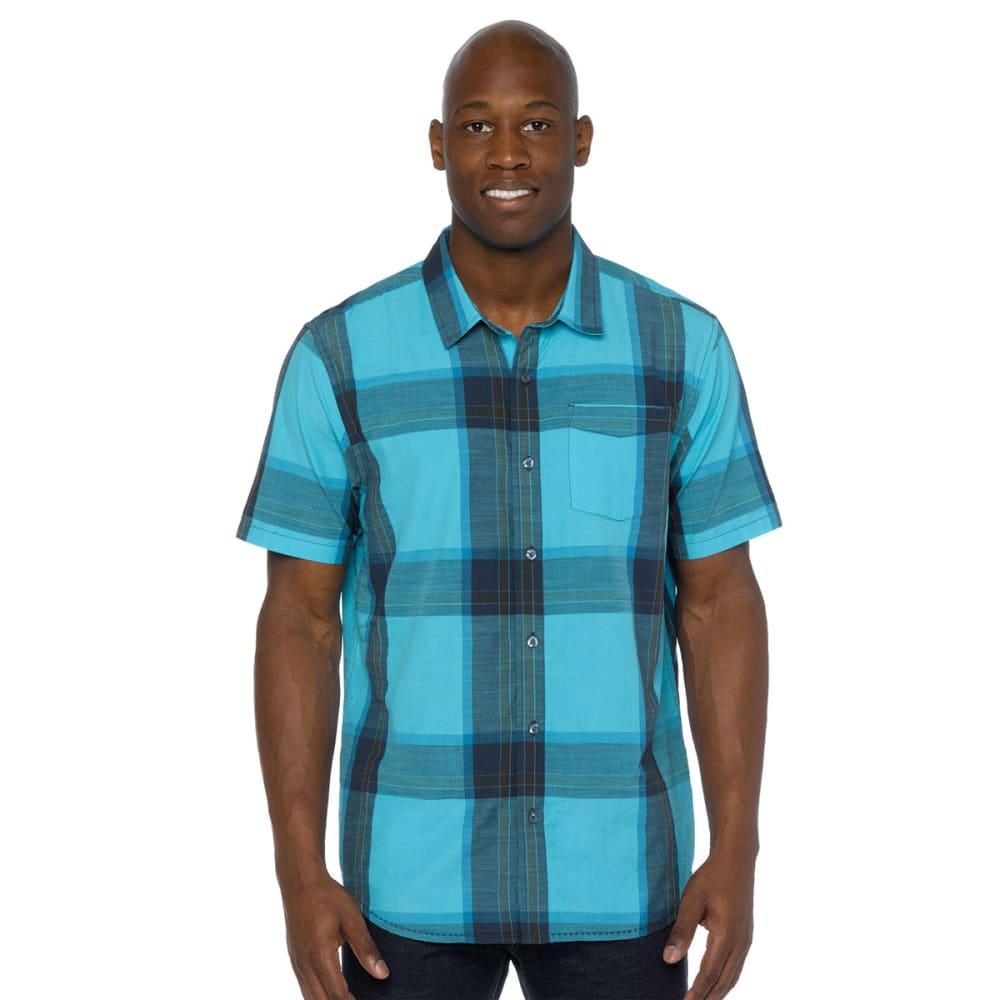 PRANA Men's Ecto Short-Sleeve  Woven Top - BLUE RIDGE