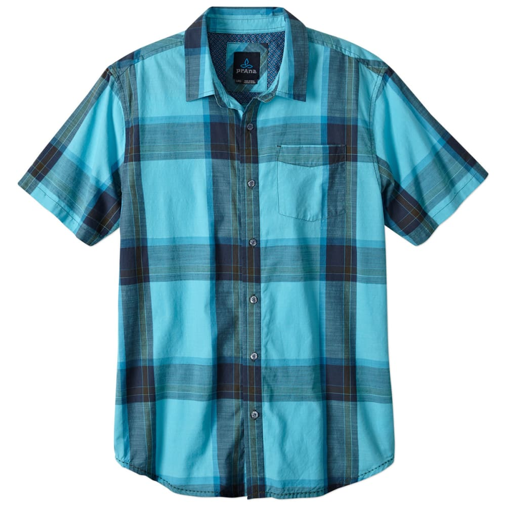 prAna Mens Ecto Short Sleeve Woven Top - BLUE RIDGE