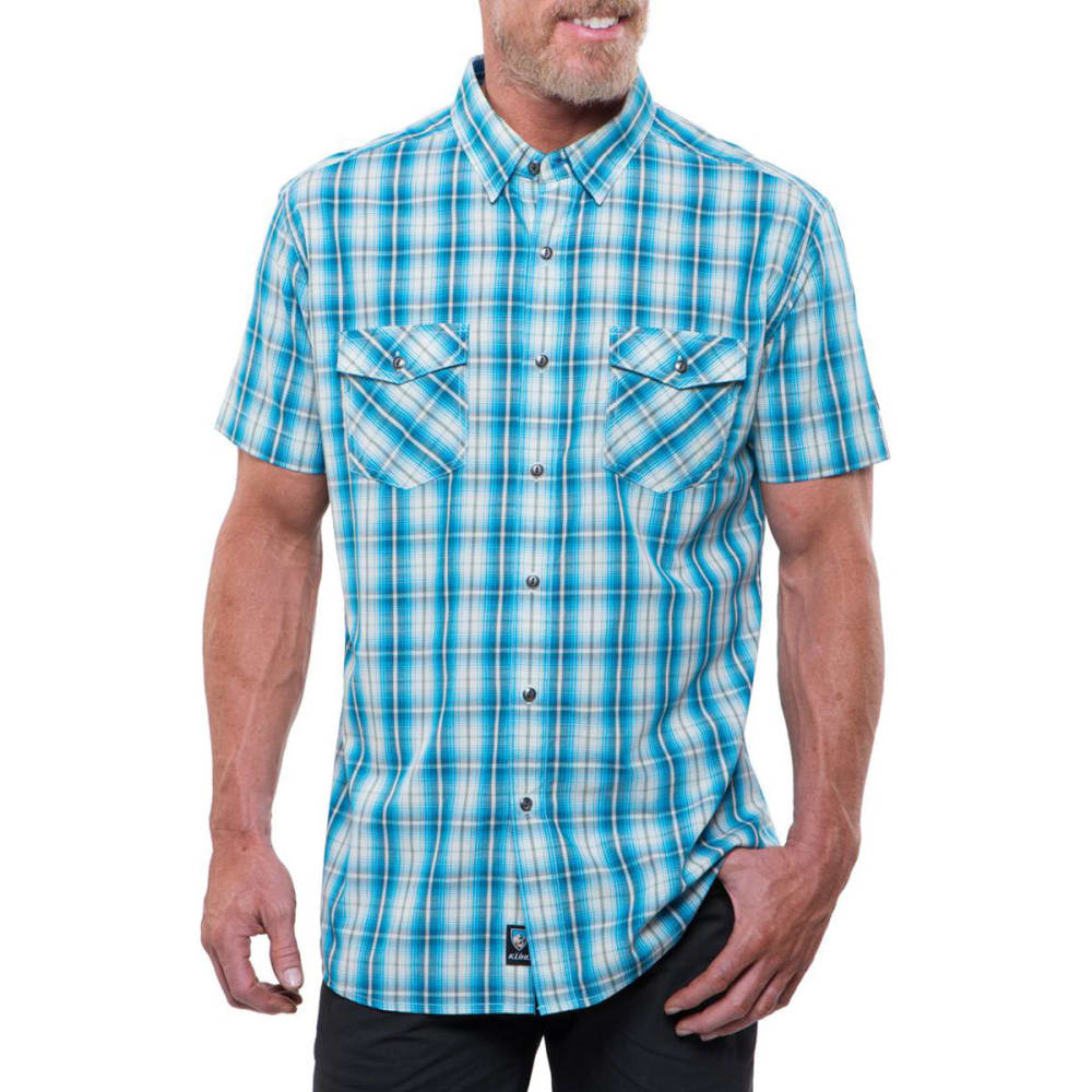 KÜHL Men's Brisk Short-Sleeve Shirt  - LAKE BLUE