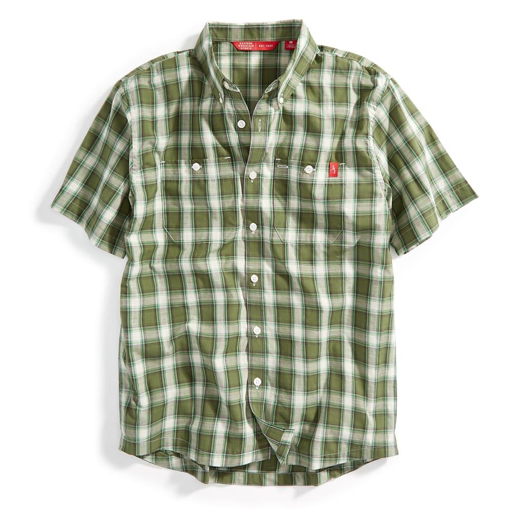 EMS® Men's Ranger Short-Sleeve Plaid Shirt - MED. GREEN