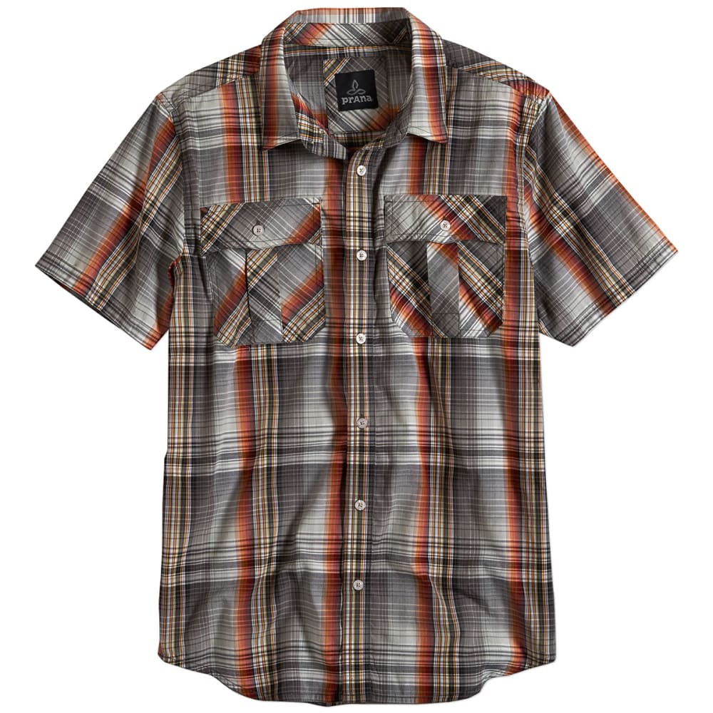 PRANA Men's Ostend S/S Shirt - GRAVEL
