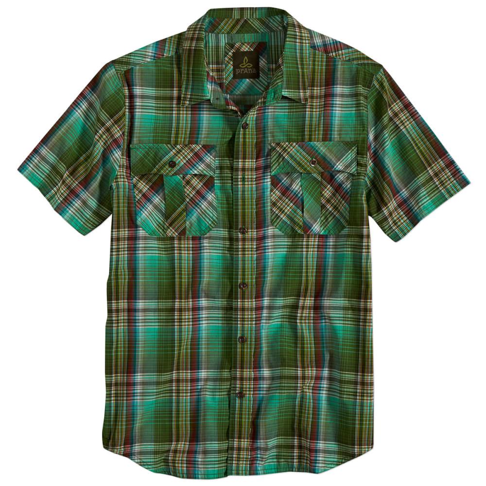 PRANA Men's Ostend S/S Shirt - GREEN SMOKE
