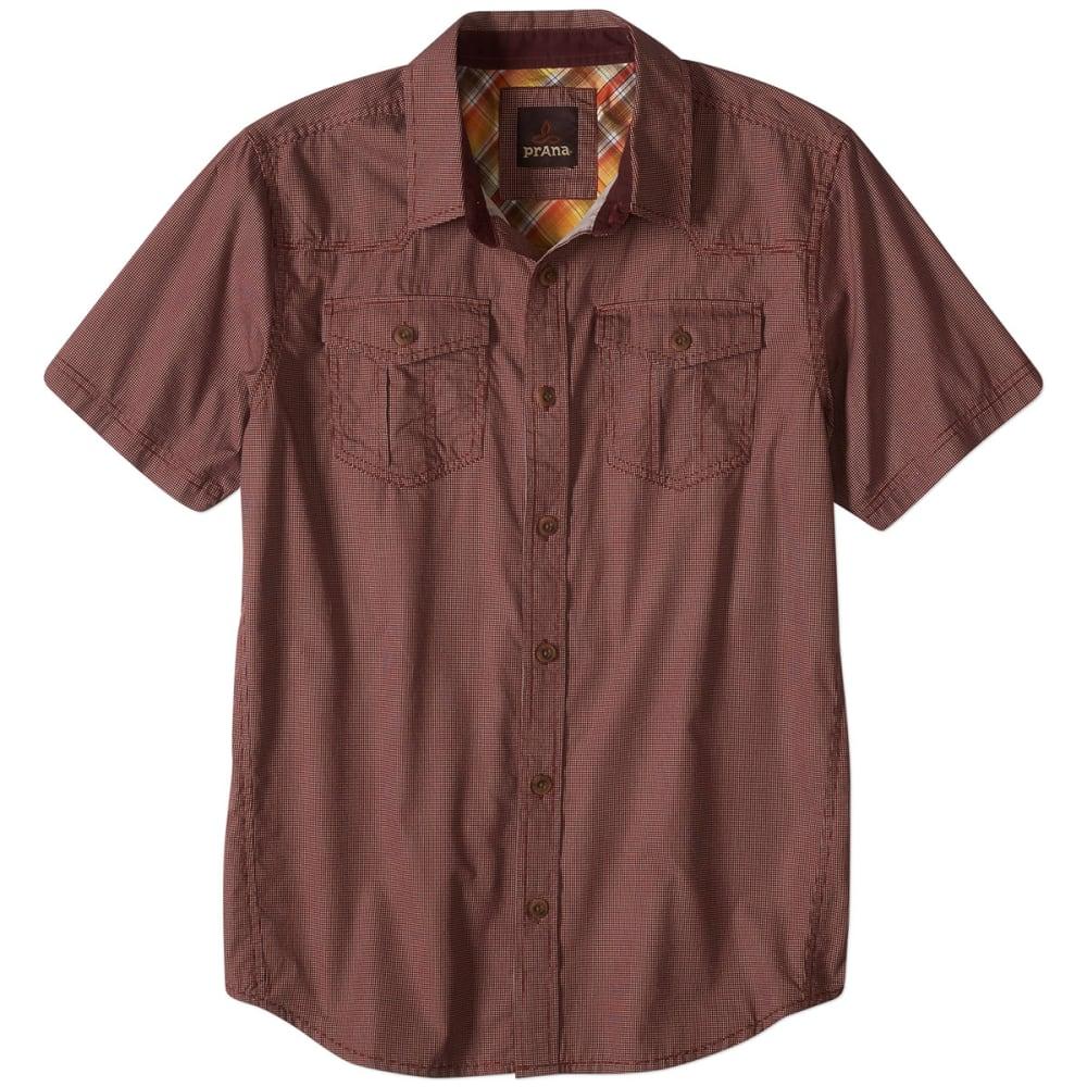 PRANA Men's Organic Cotton Borla S/S Shirt - RAISIN